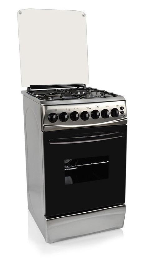 Cocina combinada Delne de 3 hornallas a gas más placa, con horno eléctrico